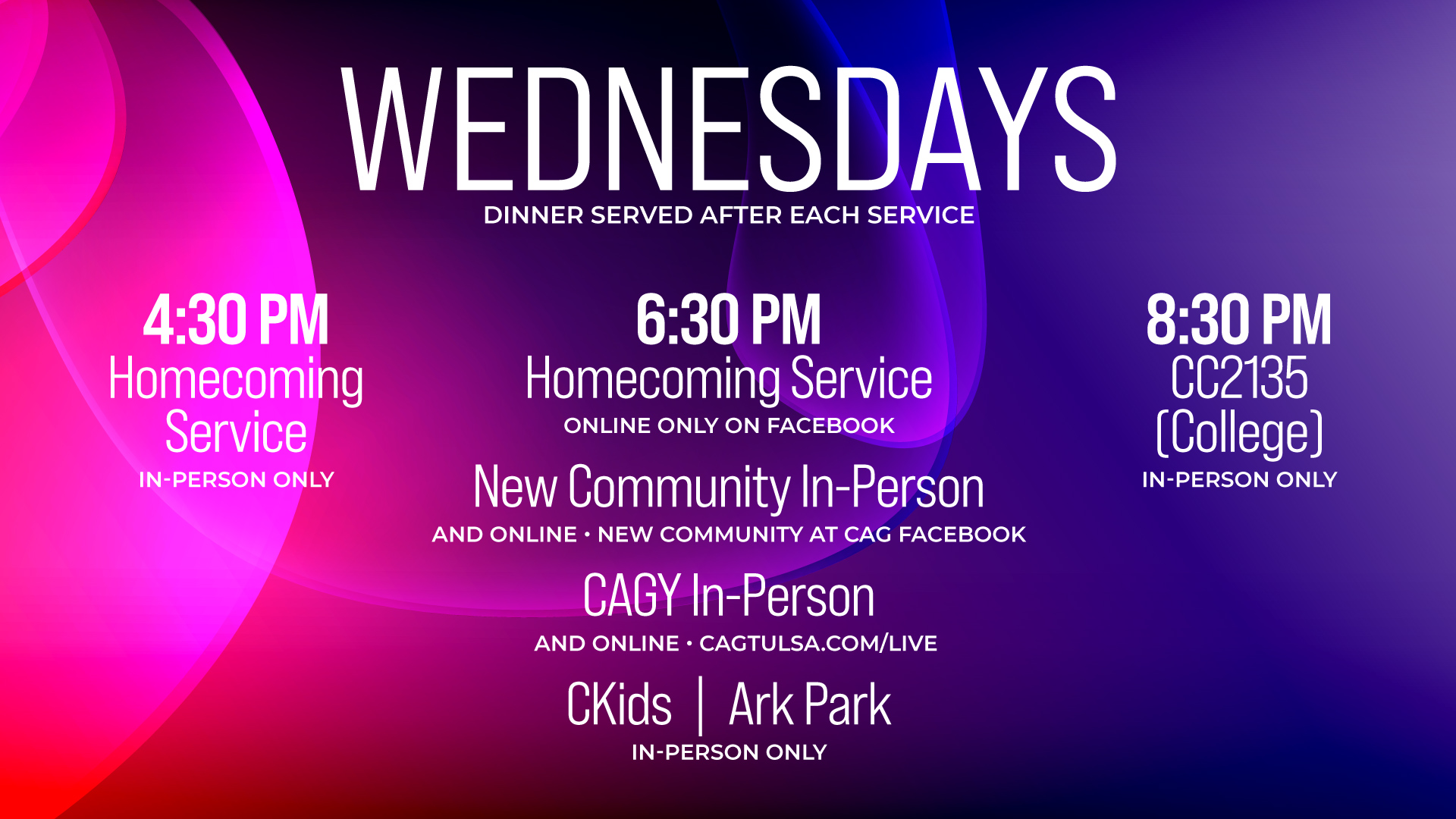 wednesday-service-times