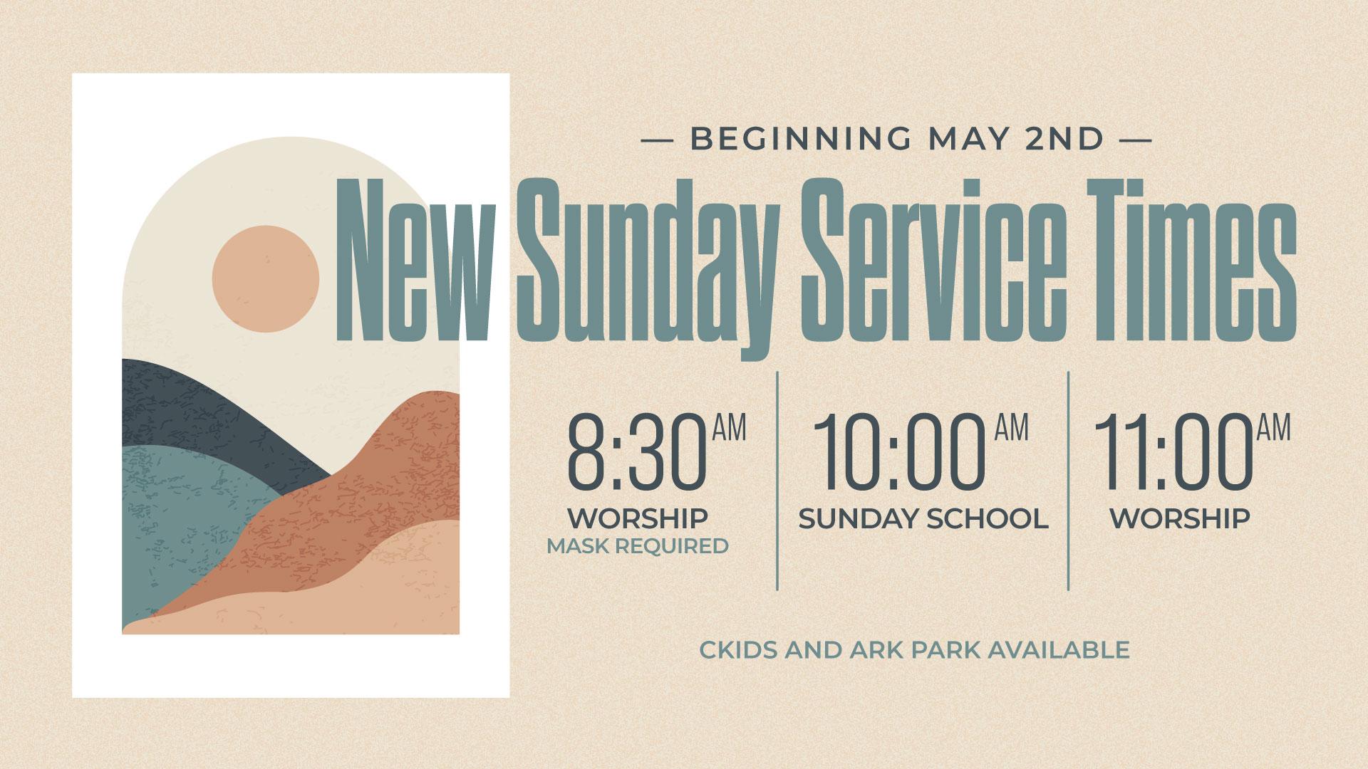 new-sunday-service-times